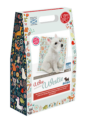 The Crafty Kit Company Dinky Dogs Wee Westie Needle Felting Kit