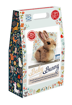 Baby Bunny Needle Felting Kit by The Crafty Kit Company