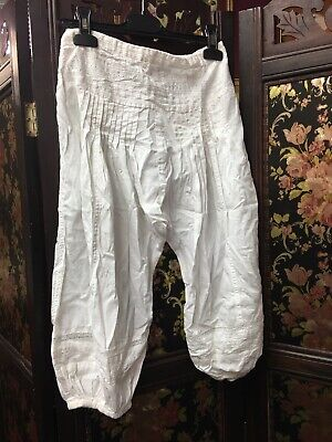next girls age 10 Sweet White Cotton Trousers Indian Boho Hippy
