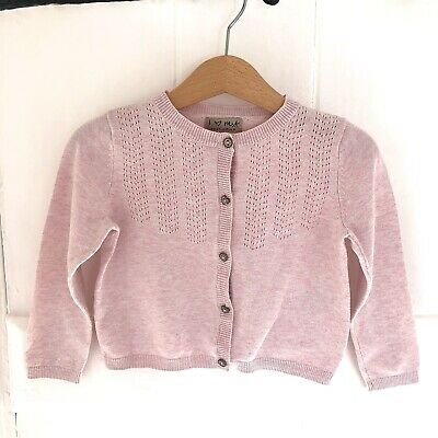 Next Baby Girls Pink Pointelle Cardigan 1 1/2 - 2 Years 18-24 Months