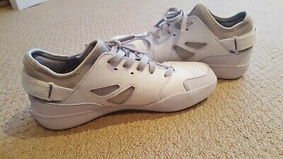 LACOSTE White and Grey Leather Sneaker/Casual Shoe Sz 40.5 - worn twice only!