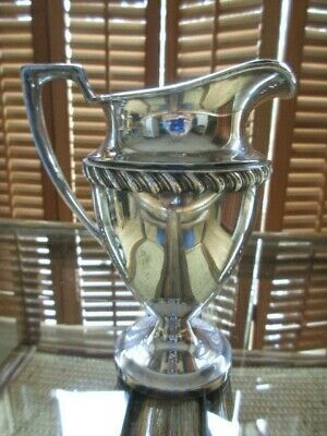Downton Abbey Style Vintage Crescent Silverplate Creamer or Sauce/Syrup Pitcher