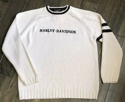 Harley Davidson Full Knit Sweater Sz Medium Spell Out Logo