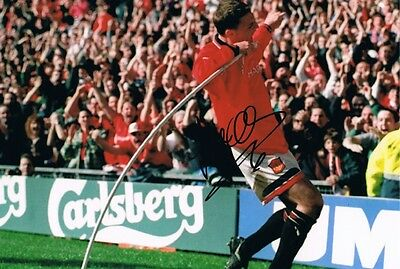 Signed Lee Sharpe Manchester United Autograph Photo Bradford Leeds Torquay