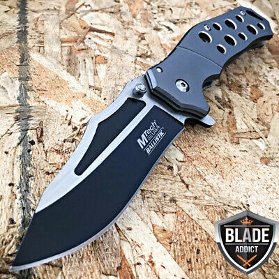 """8"""" MTECH XREME GREY SPRING ASSISTED Military Tactical Folding POCKET KNIFE -T"""