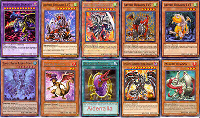 Yugioh Armed Dragon Deck - LV7, LV5, Level Up, Red-Eyes Darkness Metal Dragon