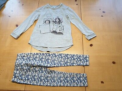 Mayoral Designer Girl's Grey Long Sleeve Top, Leggings Outfit Size 6 - 7 Years