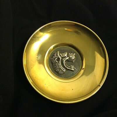 Lalaounis Brass & Sterling Silver Green Lion