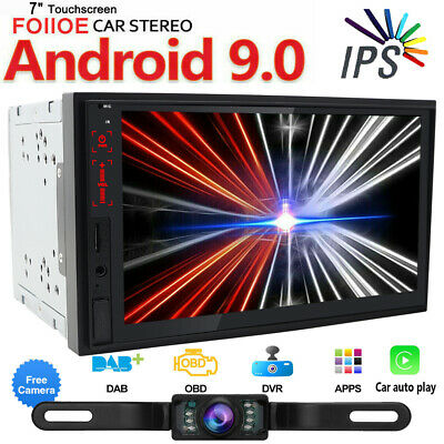 """7""""IPS Android 9.0 Car Radio Stereo GPS WIFI Double 2DIN Bluetooth USB Player AUX"""