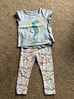 Girls Top And Leggings Outfit Age 2-3 Nutmeg
