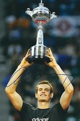 ANDY MURRAY SIGNED 12x8 PHOTO - WIMBLEDON - UACC & AFTAL RD TENNIS AUTOGRAPH