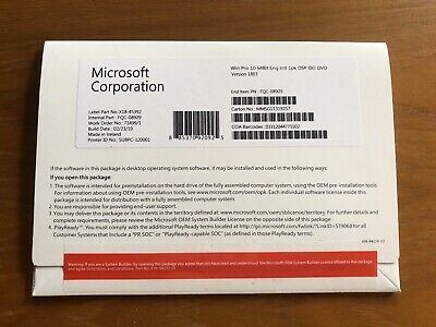Genuine Windows 10 Pro OEM Product key - Full Version -For 1 PC Only