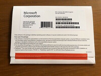 Microsoft Windows 10 Home OEM 32/64 Bit Full Version Product Key For 1 PC Only