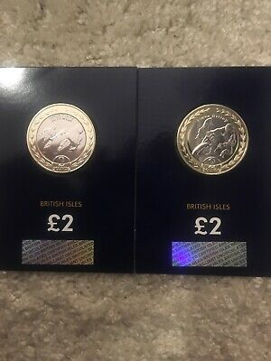 2019 ISLE OF MAN TT RACE STEVE HISLOP £2 POUND BU DUO COIN SET Stunning