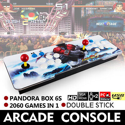 2060 in 1 Pandora Box 6s Retro Video Games Arcade Console Support Double Stick