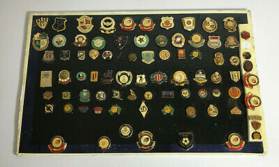Vintage Badges, Pins, Tin Buttons - Nrl Football , Soccer Etc Sports Old