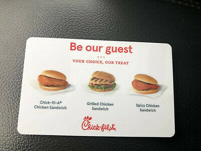 Chick-fil-a Free Sandwich gift cards - Quantity 12