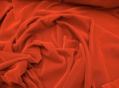 """Stretch Red Velvet Costume / Craft Dress Fabric 58"""" Wide Sold By The Yard Or Rol"""