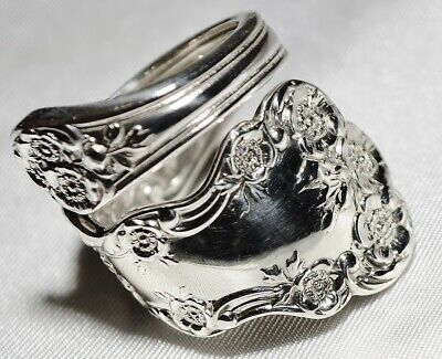 BUTTERCUP Sterling Silver Ring Gorham Floral Spoon Size 7 Silverware Jewelry