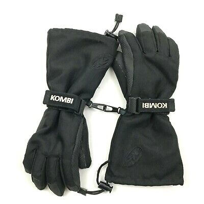 Kombi Junior Ripcord Gloves Removable Waterguard Liner Black Kids Glove Winter