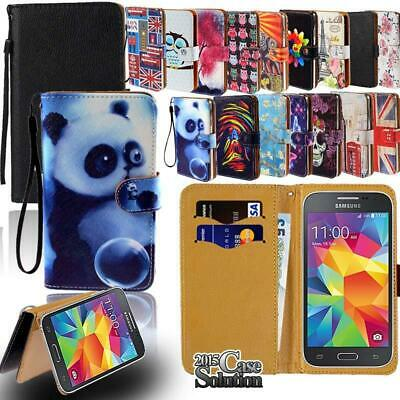 Flip Leather Card Wallet Stand Cover Phone Case For Samsung Galaxy A3 A5 A6 A7
