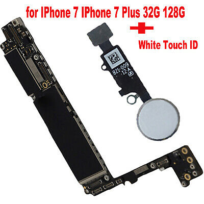 For iPhone 7/7Plus Motherboard Unlocked Mainboard Logic Board + Touch ID 32/128G