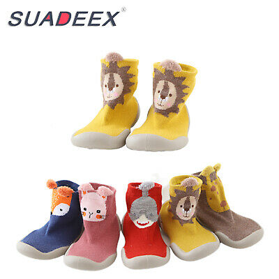 Infant Baby Girl Boy Toddler Anti-slip Warm Slippers Socks Cotton Crib Shoes US