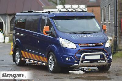 Roof Bar + Clamps + LEDs For Ford Transit Tourneo Custom 2013 - 2018 Light Bar