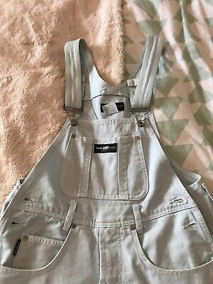 Women's Parkers jeans USA light blue denim overalls / dungarees SMALL