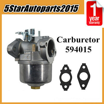 Carburetor 594015 with Gaskets for Briggs & Stratton Lawnmower Supersedes 593358
