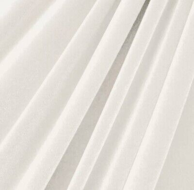 """STRETCH White VELVET COSTUME / DRESS FABRIC 58"""" WIDE SOLD BY THE YARD OR ROLL"""