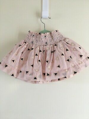 Toddler Girls *seed Kids* Skirt Pink Lured Emb Size 4 But Best Fits 2