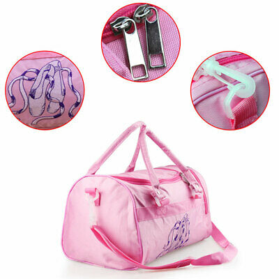 Girls Tote Gymnastics School Handbag Ballet Shoulder Bag  Kids Dance Duffle Bag