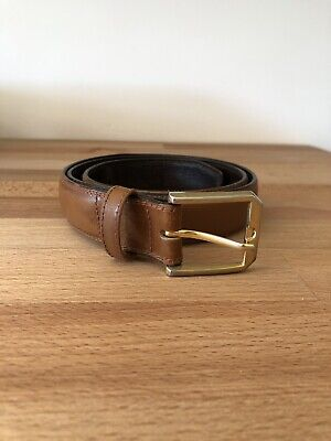 Vintage Tan Brown Leather Belt
