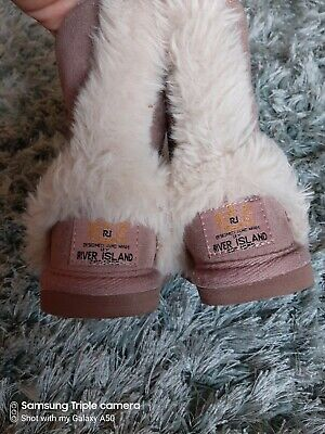River Island Baby Girls Winter Boots Size 4