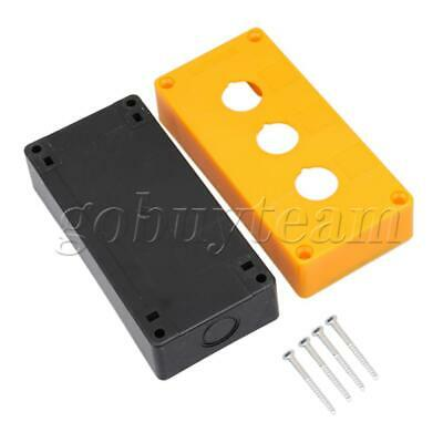 Yellow 3 Button Hole Switch Control Station Box with Screws