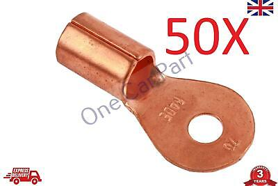 50X 50-70 (1/0-2/0)AWG Open Cable Ring Battery Copper Lugs Terminal Connector