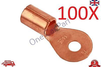 100X 50-70 (1/0-2/0)AWG Open Cable Ring Battery Copper Lugs Terminal Connector