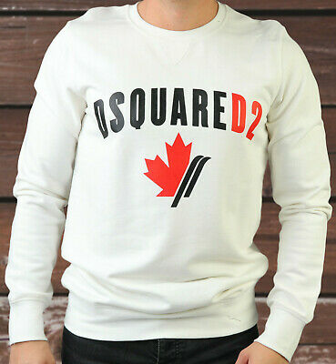 DSQUARED 2 SWEAT Shirt Logo Sweater Jumper White Color Brand