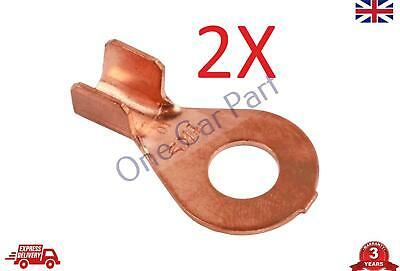 2X 6-10 mm2 10-8 AWG Open Cable Ring Battery Copper Lugs Terminal Connector