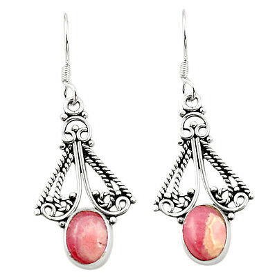 factory direct sale natural rhodochrosite inca rose (argentina) earrings m37031
