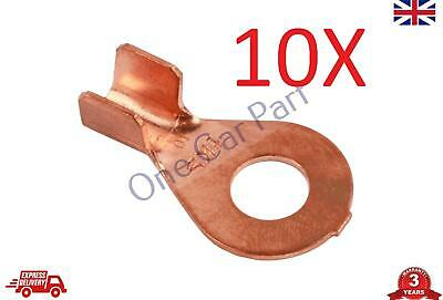 10X 6-10 mm2 10-8 AWG Open Cable Ring Battery Copper Lugs Terminal Connector