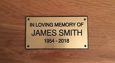 Brass Effect Personalised Memorial Bench Plaque