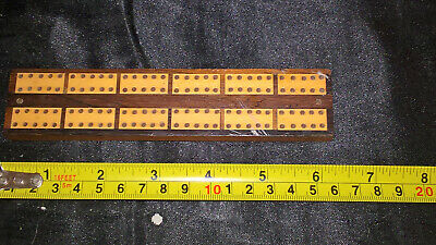 Small / Travel Inlaid Cribbage Board Wood Marquetry
