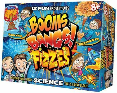 John Adams BOOMS BANGS FIZZES Science Experiments for kids - gift boys girls 8+