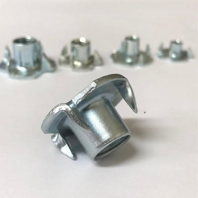 T Nuts Four Pronged Tee Nuts M4 M5 M6 M8 M10 Zinc Plated Blind Nut Captive