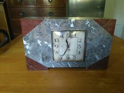 1930s ART DECO Marble Mantel Clock for spares and repairs