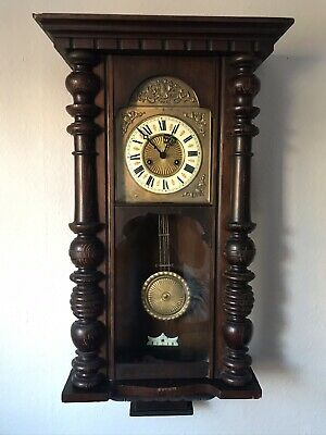 Old Antique Vintage Wall Pendulum Wooden Art Collectible Wall Clock