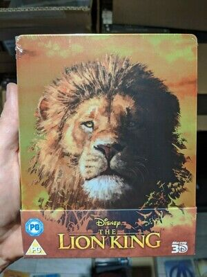 The Lion King (2019) Limited Edition Steelbook (Blu-ray 2D/3D) BRAND NEW!!