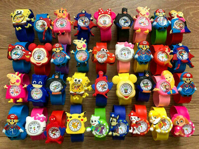 PAW PATROL / Peppa / Cartoon Snap / Slap Watch for Kids Boys Girls Xmas Gift